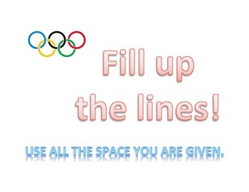 Test Taking Strategy Posters: Winter Olympics Theme