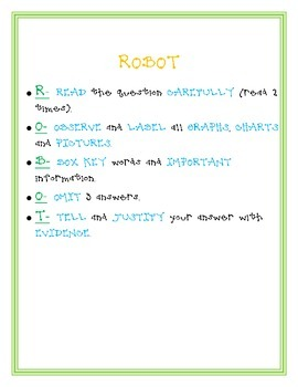 Test Taking Strategy- ROBOT