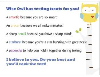 Test Taking Survival Kit (make them happy)