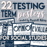 Test Taking Terms Posters Social Studies History