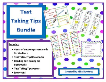 Test Taking Tips Bundle