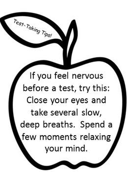 Test-Taking Tips - Bushels of Apples
