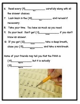Test Taking Tips Fill-in