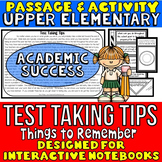 Test Prep: Reading Passage and Questions: Interactive Notebook