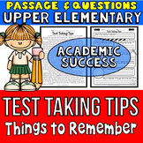 Test Taking Tips: Passage and Questions: Incorporate with