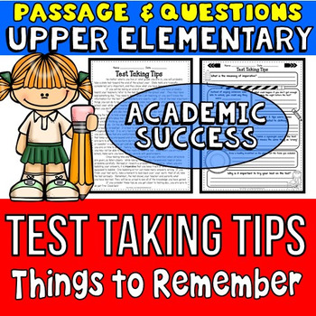 Test Taking Tips Passage and Questions