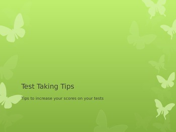 Test Taking Tips Power Point