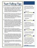 Test Taking Tips Printable Handout