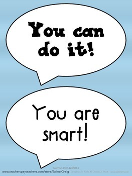 Test Taking Tips and Encouraging Words for Test Day SPEECH BUBBLES
