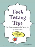 Test Taking Tips and Encouraging Words for Test Day SPEECH