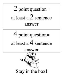 Test Taking Tips for Extended Response Questions