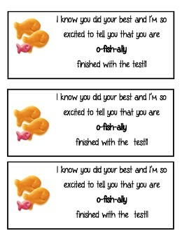 Test Taking Treat- O-fish-ally finished with testing