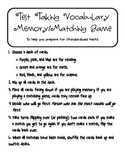 Test Taking Vocabulary Matching/Memory Game - Reading, Math, & Science