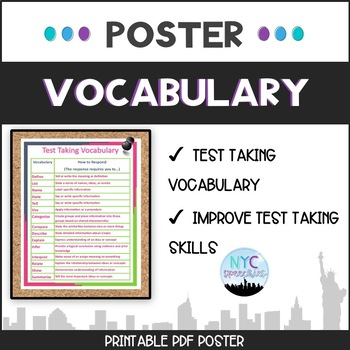 Test Taking Vocabulary Poster