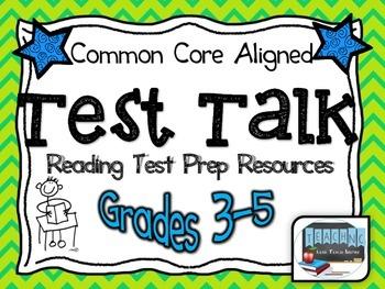 Test Talk Reading Test Prep Unit Resources (Grades 3-5)