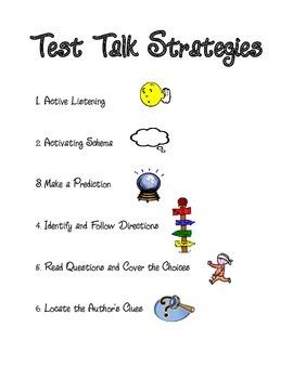 Test Talk Strategies Poster