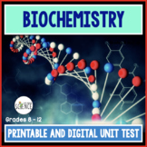 Biochemistry Unit Test  The Chemistry of Biology Organic Compounds