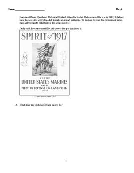 Test - The First World War - U.S. History