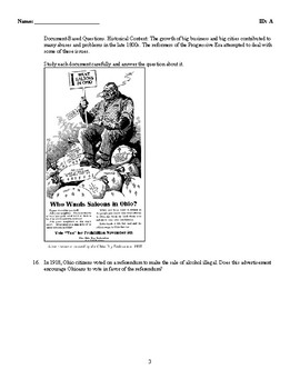 Test - The Progressive Era - U.S. History