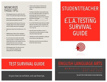 Test Tip Survival Guide: For Students AND Teachers (ELA Focus)