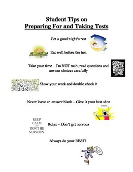 Test Tips for Preparing for and Performing Well on Assessments