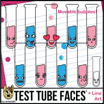 Test Tube Faces Clip Art