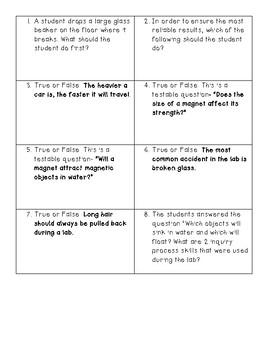 Test Tube Trivia (Scientific Investigation and Reasoning version)