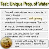 Test: Unique Prop. of Water, Standards Based (FL), Digital