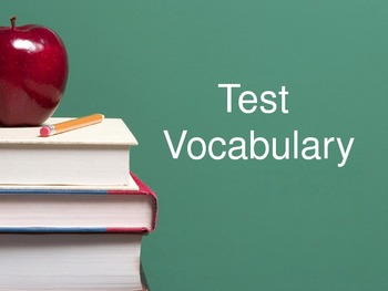 Test Vocabulary Flashcards