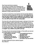 Test Week Parent Letter
