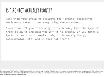 "Test Your Irony Skills with Alanis' ""Ironic"""