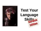 Test Your Kurdish Learning Ability - Warm Up/Bellringer