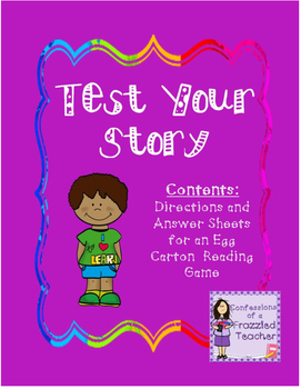 Test Your Story - Reading Egg Carton Game