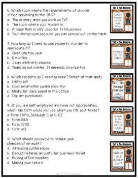 Test Your Tax Knowledge- A Pretest for TpT Sellers