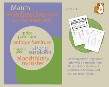 Test Yourself: Match The Adjective To The Most Suitable Noun (EFL Work Pack) 8+