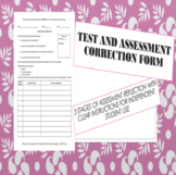 Test and Assessment Correction Form
