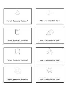 3D shapes and attributes: Quiz Quiz Trade or Scoot Cards