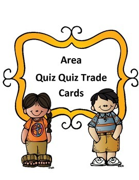 Area of Rectangles: Quiz Quiz Trade or Scoot Cards (with keys)