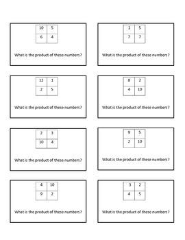 Mental Multiplication Multi Step: Quiz Quiz Trade or Scoot Cards
