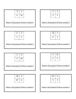Mental Multiplication Multi Step: Quiz Quiz Trade or Scoot Cards
