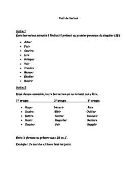 Test de Verbe (French verb test)