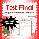 Test du gouvernement canadien (Government Test)  French