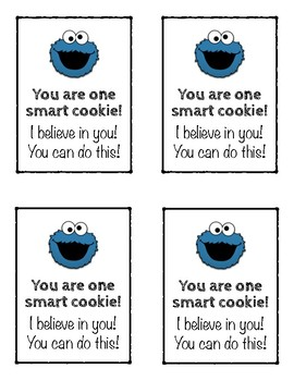 photograph about Encouraging Notes for Students During Testing Printable known as Check encouragement observe intelligent cookie