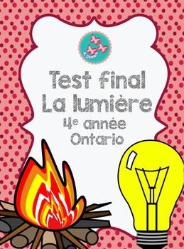 Test final : La lumière