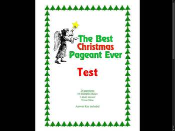 Test for The Best Christmas Pageant Ever by Barbara Robinson