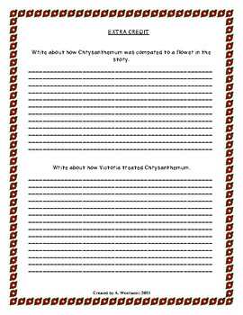 Test for the Book Chrysanthemum by Kevin Henkes