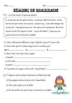 Test grammaire 4e- thème hiver