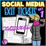 Social Media EDITABLE Exit Tickets