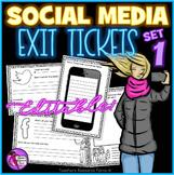 Social Media EDITABLE Exit Tickets