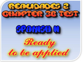 Test of Chapter 3B REALIDADES 2 SPANISH 2